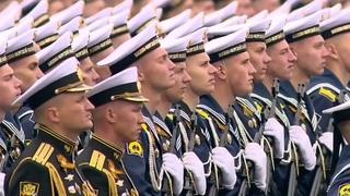 Крупный план. Участники парада Победы - 2019. Они теперь вошли в историю, Красная площадь, Москва