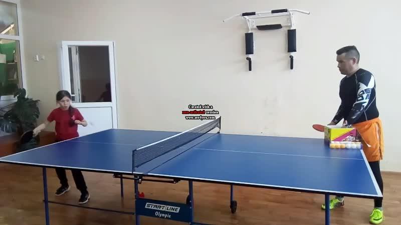 Настольный теннис Тренировка будущих теннисистов