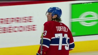 Tyler Toffoli 20th goal of the 2020-2021 NHL season against the Calgary Flames 4/16/2021