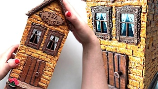 DIY miniature cardboard house | Tea house