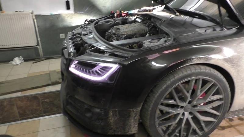 Audi A8 после колхоза у дилера