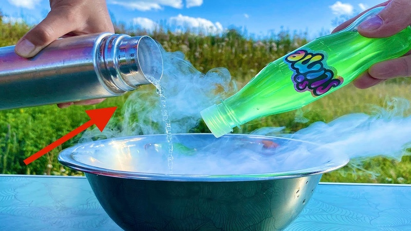 What happens if the slime is placed in liquid nitrogen