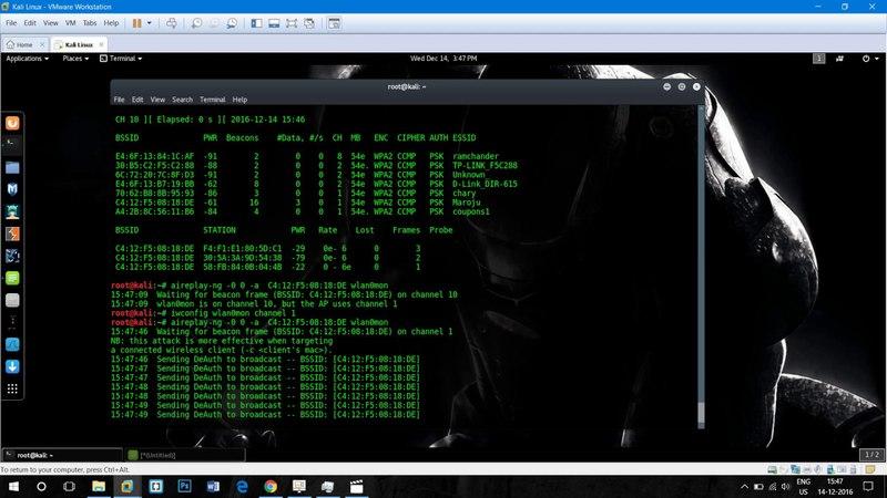 Hack Wifi signal Dos Attack