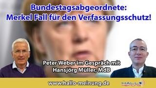 Bundestagsabgeordnete: Merkel Fall für den Verfassungsschutz!