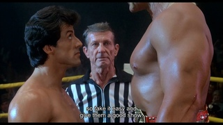 """""""The ultimate male versus the ultimate meatball"""" in Rocky III (1982) with Hulk Hogan and Sylvester Stallone (1080p)"""