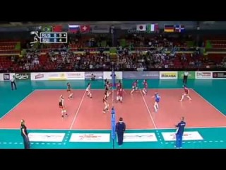 2013-05-31 - Montreux Volley Masters - Russia vs Switzerland - set 1