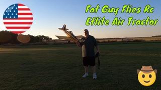 Fat Guy Flies his Tractor!!
