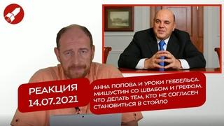Реакция  Попова и уроки Геббельса. Мишустин со Швабом и Грефом. Что делать если не согласен?