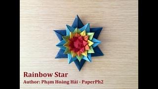 Tutorial: Origami Rainbow Star (Pokemon Starmie) - PaperPh2