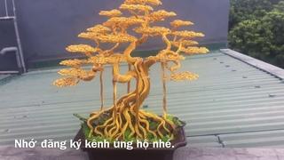 Bonsai handmade từ dây đồng | cây bonsai dây đồng | bonsai handmade ha noi.