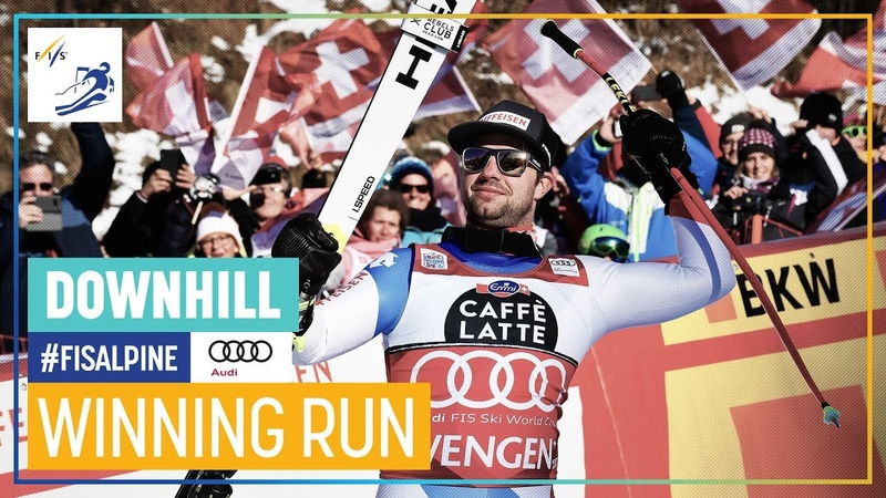 Beat Feuz Men's Downhill Wengen 1st place FIS Alpine