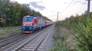 Новинка павелецкого хода! ЭП20-027 с поездом N45 Москва-Тамбов у Топканово