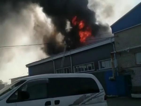 Пожар в складском помещении в Большом Камне