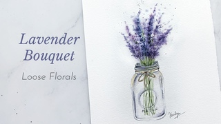 How to Paint Lavender with Watercolor for Beginners