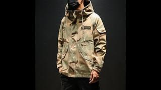 Мужская камуфляжная куртка в стиле милитари, модная тактическая куртка с капюшоном, в корейском стиле, размеры до 5xl, 2019