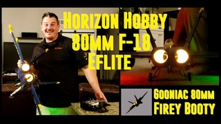 Horizon Hobby - F-18 80mm Blue Angels + Gooniac FireBooty - LED Afterburner