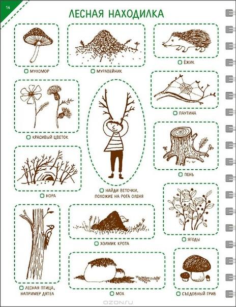 ВЕСЕННИЕ НАХОДИЛКИ Суть очень проста: во время прогулки ищем предметы, изображенные на карточках. Поиск предметов занятие безумно интересное и увлекает не только детей, но и взрослых. А если ко