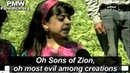 Jews are the barbaric monkeys wretched pigs says girl on Palestinian TV