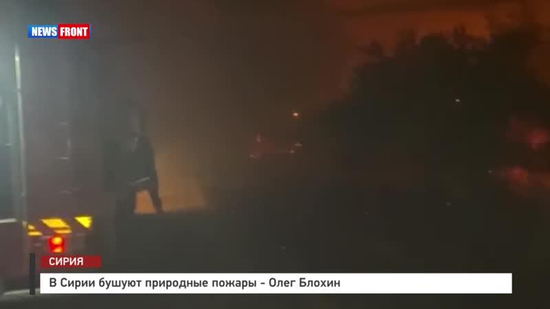 В Сирии бушуют природные пожары Олег Блохин
