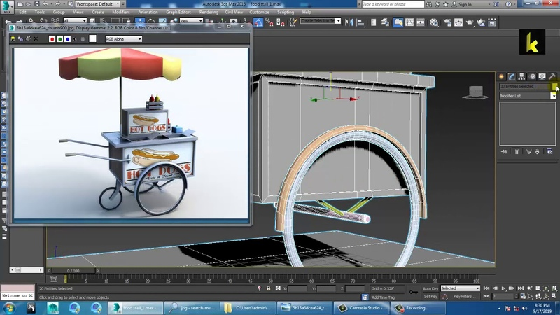Tutorial on Modeling and Texturing a food stall in 3dsmax ( Part 2)