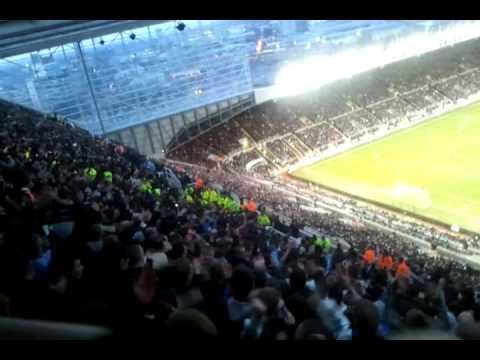 Newcastle fans vs tottenham oh colocini!
