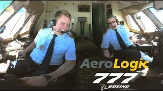 STUNNING PILOTS Aerologic Boeing 777F ULTIMATE COCKPIT MOVIE to LEJ AirClips full flight series