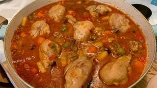 Piernitas de Pollo en Salsa con Verduras, una receta bien Rica y Fácil