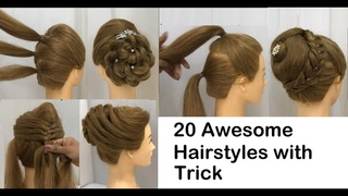 20 New Hairstyles with trick for wedding or party | Easy Hairstyles | Bun Hairstyle with Trick 2020
