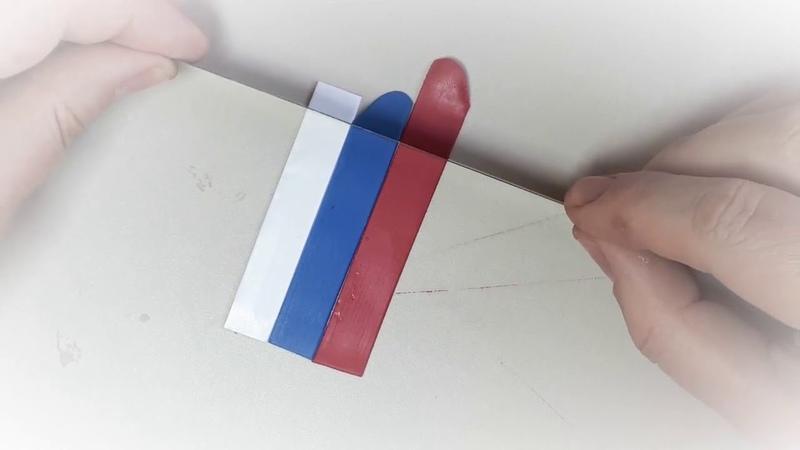 Мастер класс по лепке из полимерной глины Флаг России