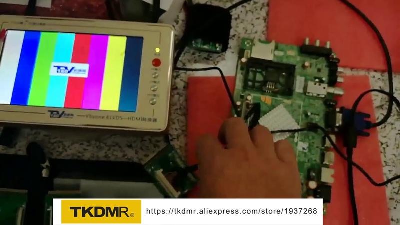 TKDMR TV160 7th motherboard tester,how to test tv moterboard Probador de Tarjetas Main de tv en