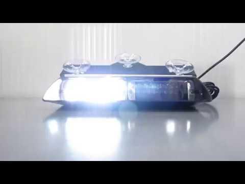 Стробоскоп на стекло белый , фара вспышка gv-auto.com.ua
