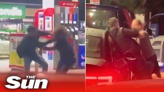 Petrol station forecourt BRAWL as tempers flair in fuel shortage crisis