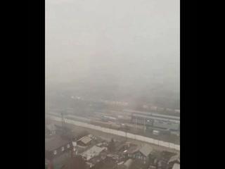 Cнежный шквал в Улан-Удэ (Бурятия, 6 ноября 2020).