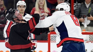 2 years ago fight Alex Ovechkin vs Andrey Svechnikov, Ovechkin knocked out Svechnikov
