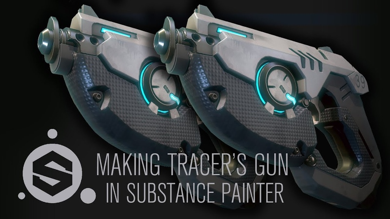 Texturing Tracer's Gun from Overwatch in Substance Painter Part 6