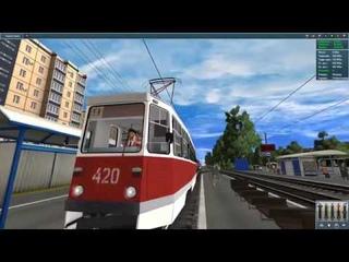 Trainz simulator 12 поездка на трамвае.