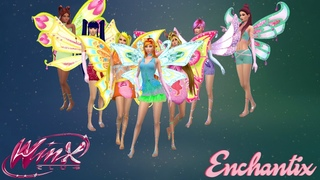 Winx Club 3-D Enchantix Transformation with Roxy (Nick Dub) - The Sims 4 | CC Linked Below