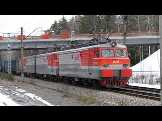 ВЛ10У и ВЛ10 с одинаковым номером в одном поезде, один из двух ВЛ11У, разнообразие электричек.