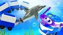 Робот поезд Кей в подводном царстве - Машины сказки с игрушками из мультика Роботы поезда и Барби