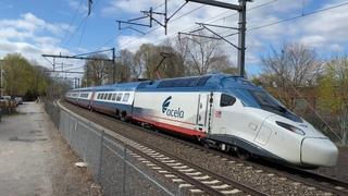 Amtrak Northeast Corridor Action in Rhode Island w/ New Acela 21 Avelia Liberty (April 2021)
