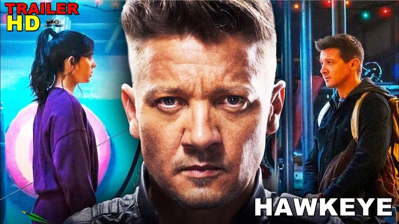 HAWKEYE Trailer 2021 Jeremy Renner Hailee Steinfeld Marvel Series