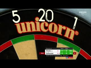 James Wade vs Ritchie Edhouse (PDC World Darts Championship 2020 / Round 2)