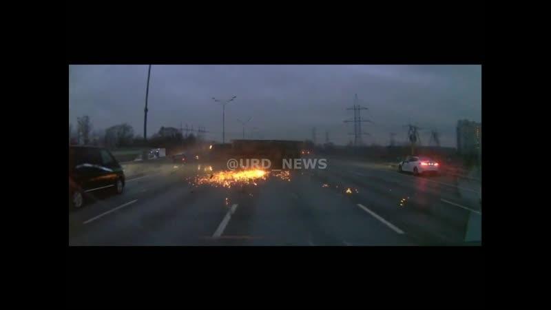 Авария на московской кольцевой с голливудскими спецэффектами