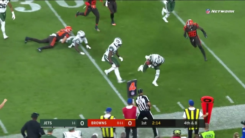 NYJ Punt Block Leads to Darnold Crowell's TD Drive