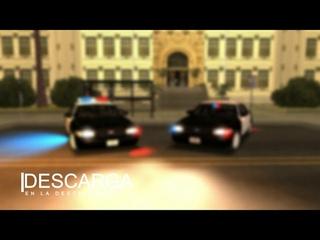 GTA SA   LAPD-LSPD Ford Crown Victoria Marked & Slicktop + AVS