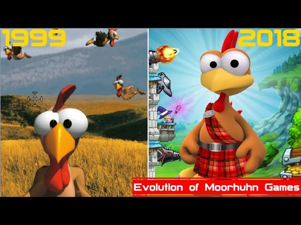 Evolution of Moorhuhn Games 1999 2018