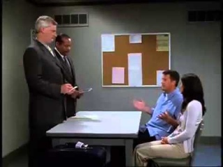 Friends - Chandler Jokes about Bombs on Airplane
