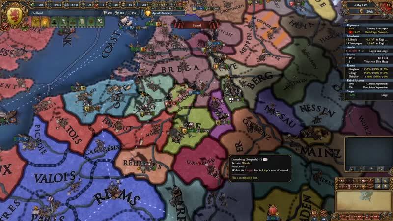 БОРЬБА ЗА ВЫЖИВАНИЕ НИДЕРЛАНДЫ Europa Universalis 4 IRONMAN