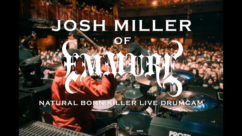 Josh Miller of Emmure Natural Born Killer Drum Cam SJC Custom Drums