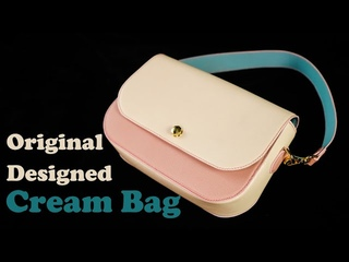 [Leather Craft] Cream Bag making / Handbag for women /Saffiano leather and Hermes leather